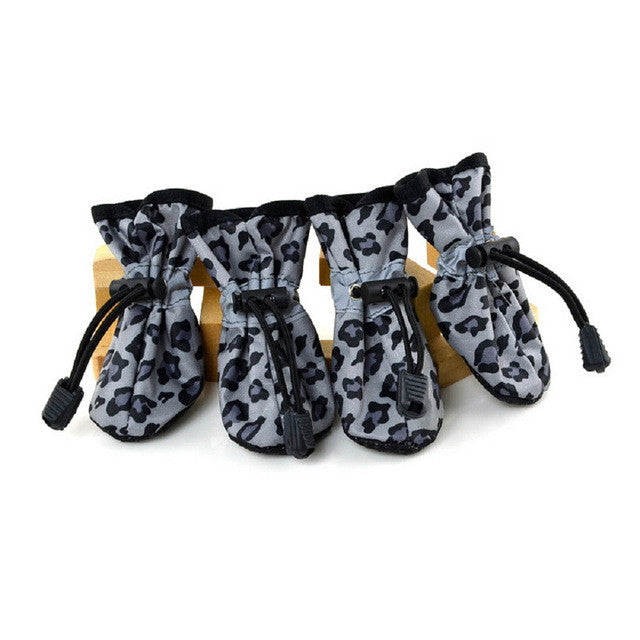 Leopard Print Boots for Pets (Pack of 4)