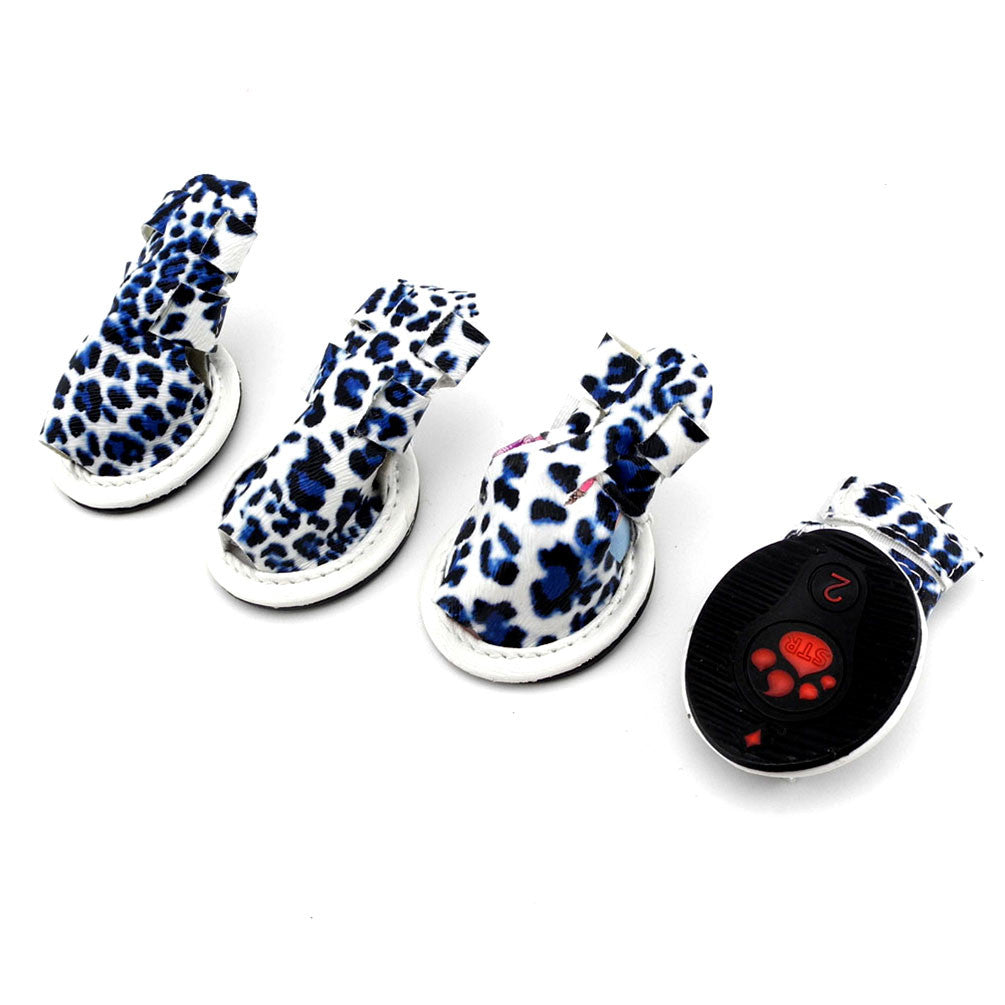 Leopard Print Sandals (Pack of 4)