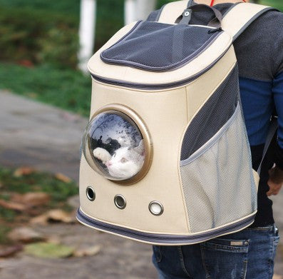 Pet Carrier Backpack with Plastic Dome Window