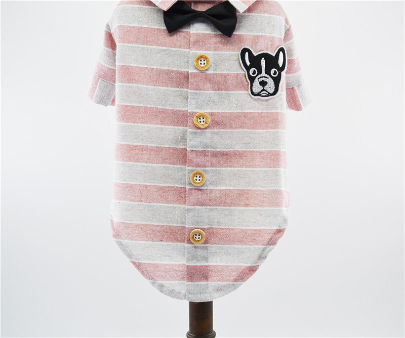 Cotton Shirt With a Bow Tie