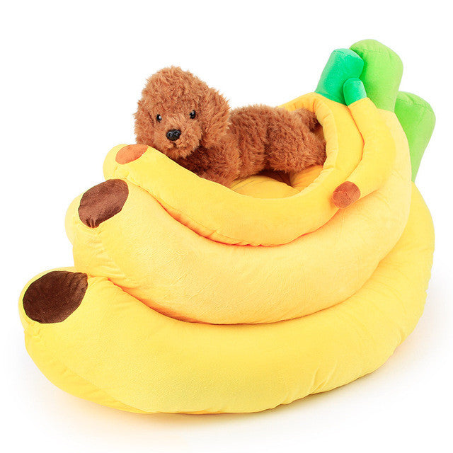 Banana Bed for Small or Large Pet