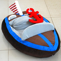 Boat Bed with Red Toy Anchor