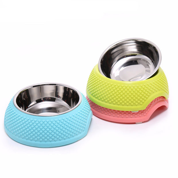 Stainless Steel Pet Bowl with Hearts