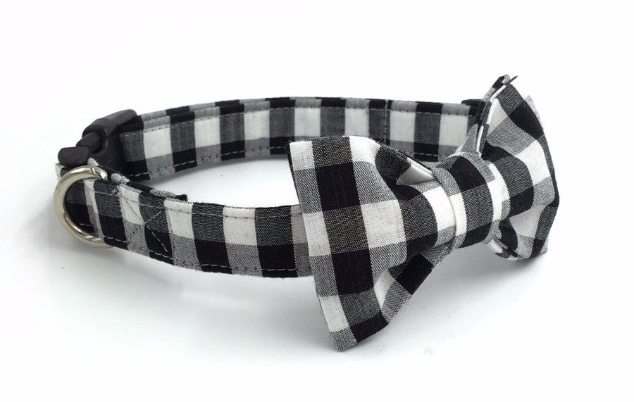 Black&White Collar with Bow Tie