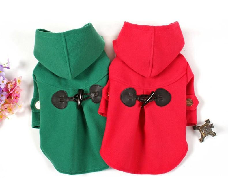 Red&Green Coat with Hood