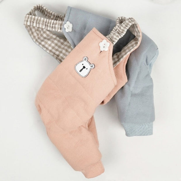 Grey and Salmon Dungaree