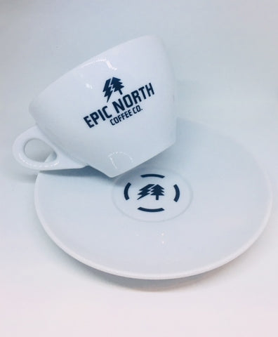 Ancap Porcelain Latte Cup and Saucer (1 Pair)