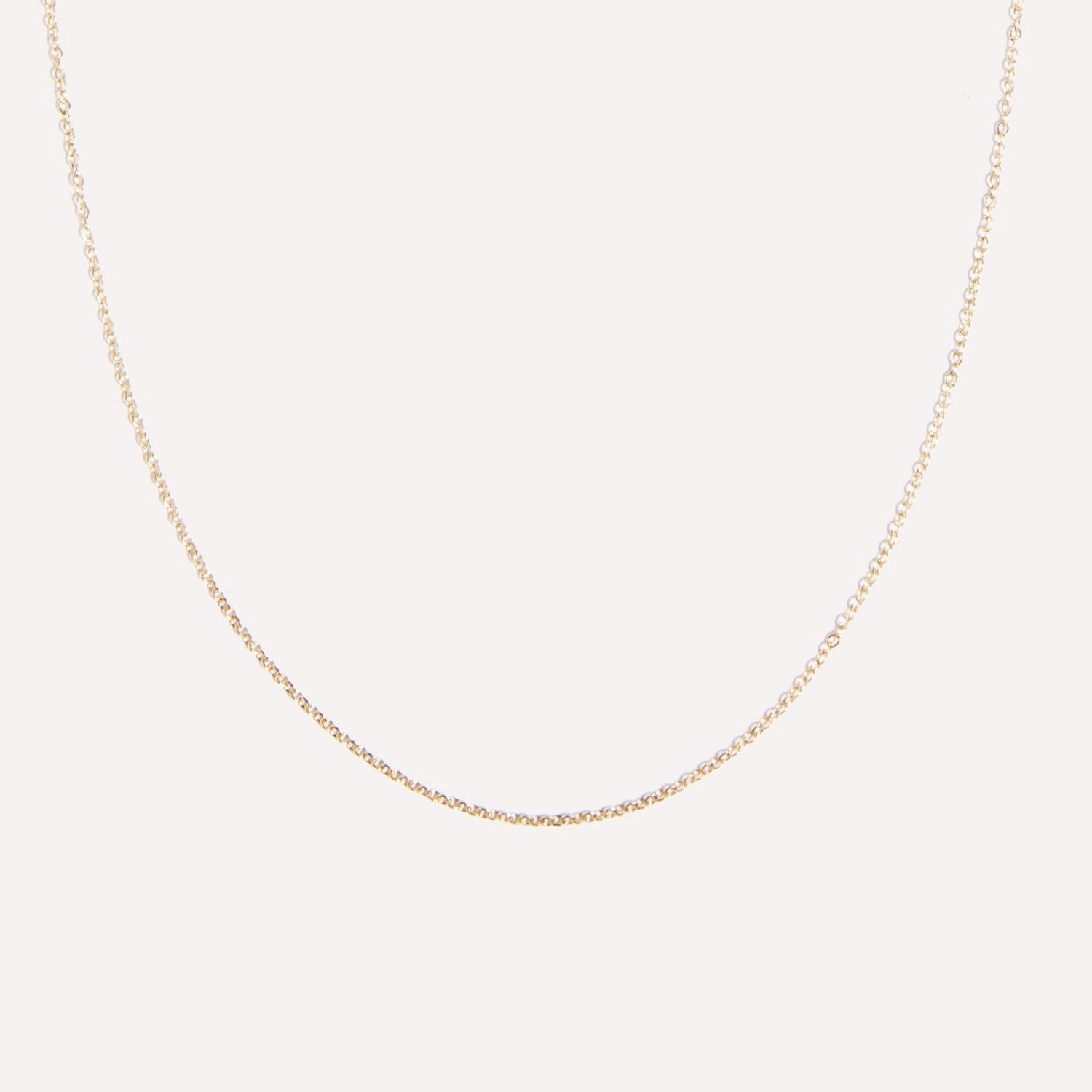 alisha chain in 14k gold.