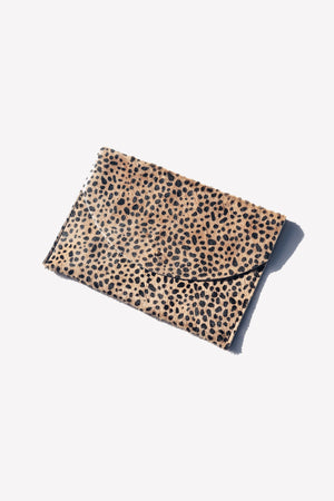 tiny spotted envelope clutch