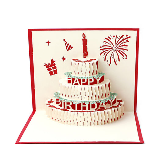 3D Birthday Cake Greeting Card BakerKraft