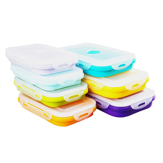 ... Portable Silicone Lunch Folding Storage Boxes ...  sc 1 st  BakerKraft & Portable Silicone Lunch Folding Storage Boxes u2013 BakerKraft