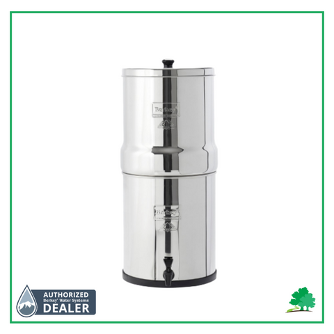 Picture of Big Berkey with Wild Oak Trail and Authorized Berkey Dealer Logo on it. - Water Filtration