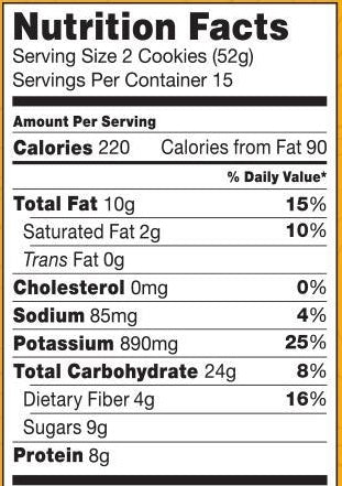 Picture of the Nutritional Facts Label