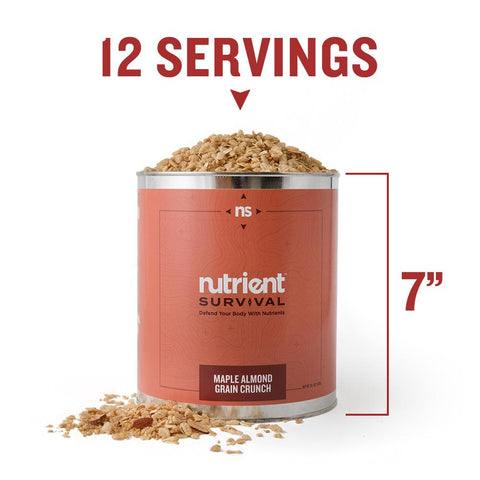Nutrient Survival - Maple Almond Grain Crunch Container Specs