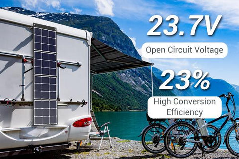 Photo of Bluetti - SP120 120W Solar Panel High-Quality Components & High Performance.