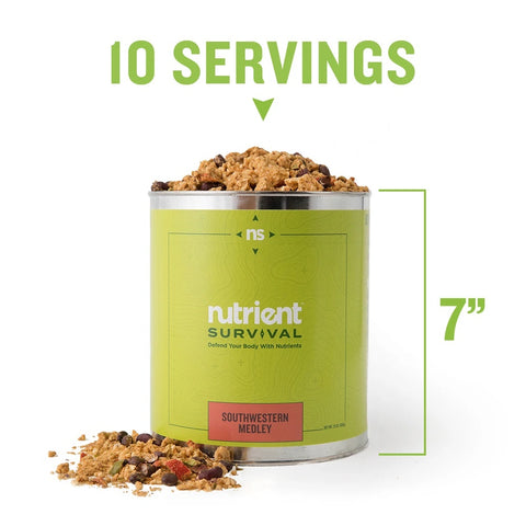 Nutrients Survival- Southwestern Medley Container Specs