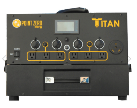 Picture of the Titan Solar Generator with one battery.