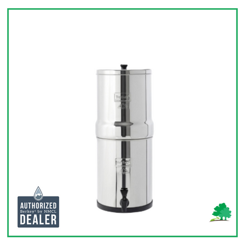 Picture of Travel Berkey with Wild Oak Trail and Authorized Berkey Dealer Logo on it. - Water Filtration