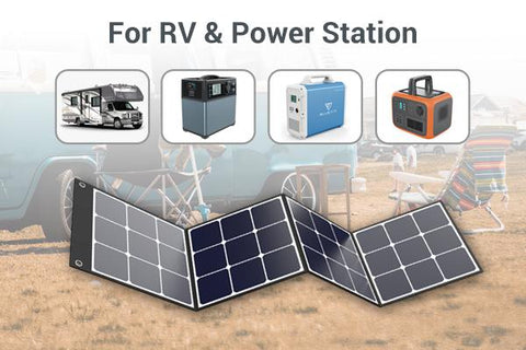 Photo of Bluetti - SP120 120W Solar Panel for RV and Powerstations.