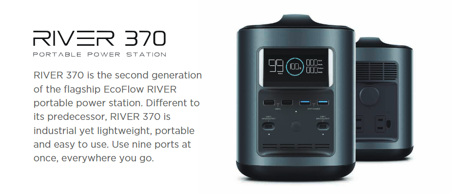EcoFlow - RIVER370 Portable Power Station + RIVER Bank