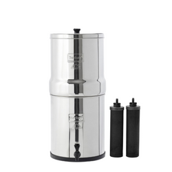 BIG BERKEY® Water Filter 2.25 GAL WITH 2 or 4 BLACK ELEMENTS
