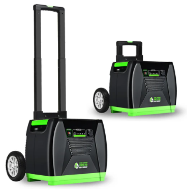 Photo of Nature's Generator Elite Cart extended in a white background.