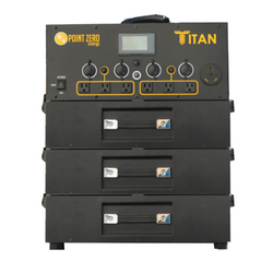 Titan Solar Generator with Three Batteries - Point Zero Energy