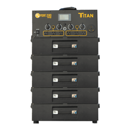 Titan Solar Generator with Five Batteries - Point Zero Energy