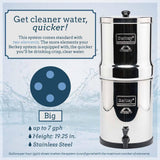 BIG BERKEY® 2.25 GAL WITH 2 or 4 BLACK ELEMENTS-Berkey-Wild Oak Trail