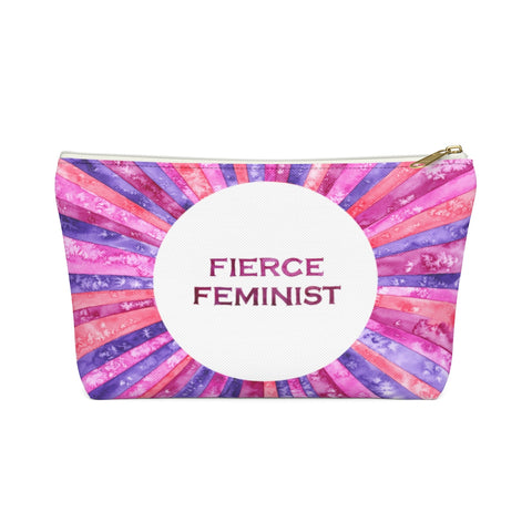 Fierce Feminist Zipper Pouch