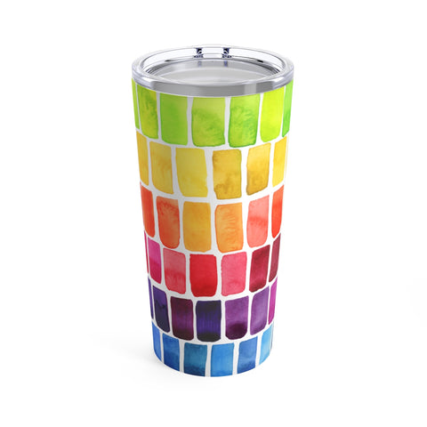 Rainbow Watercolor Swatches Special Edition Tumbler 20oz