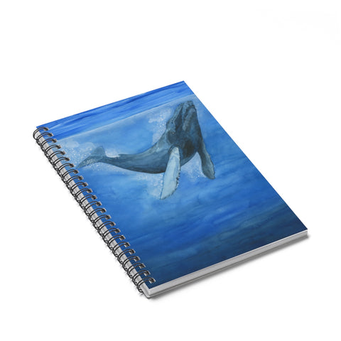 Whale Spiral Journal - Ruled Line