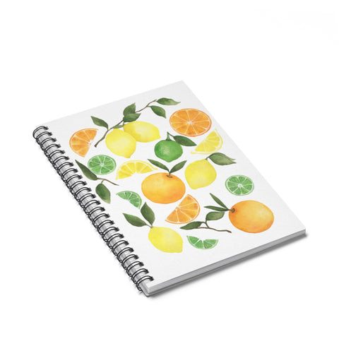 Summer Citrus Spiral Journal - Ruled Line