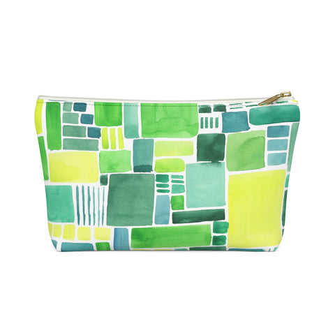 Green Pattern Zipper Pouch