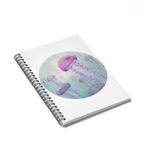 Jellyfish Spiral Journal - Ruled Line
