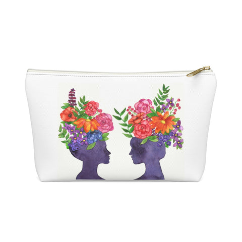 Women Bloom Together Zipper Pouch