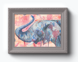 Elephant Splash Watercolor Print