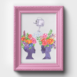 Women Bloom Together Floral Watercolor Print