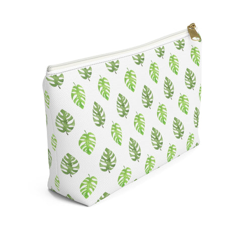 Monstera Leaf Rainforest Zipper Pouch