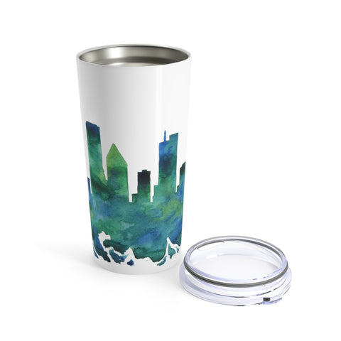 Chicago Skyline Watercolor Tumbler 20oz
