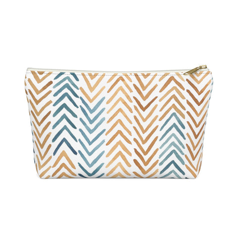 Arrow Pattern Zipper Pouch