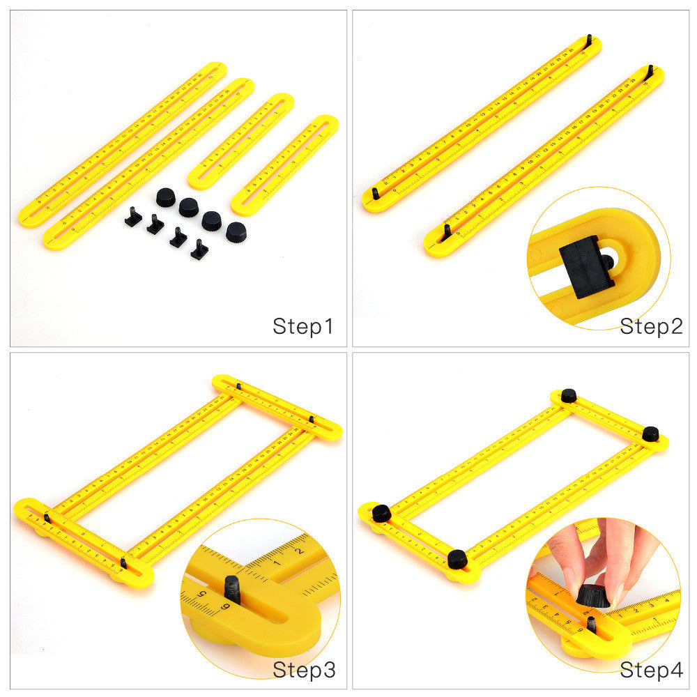 new measuring instrument angle izer template tool four sided ruler mechanism slides p10