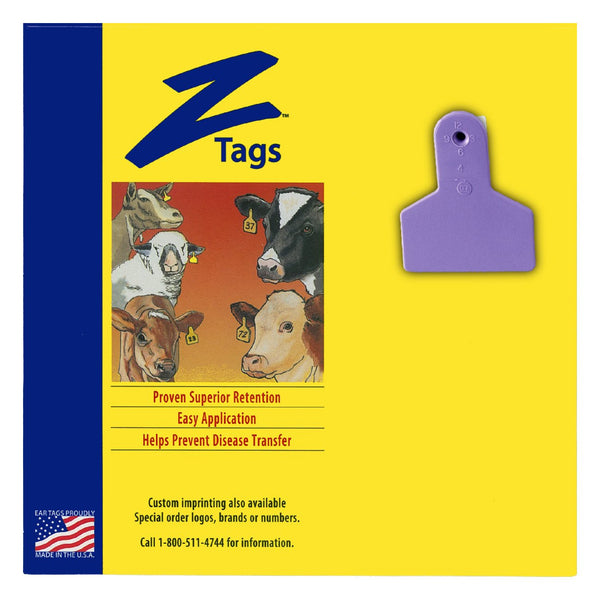Z Tags 1 Piece Small Animal Blank (Purple) 25 Pack - 1 Piece Small Animal Blank Tag Z Tags - Canada