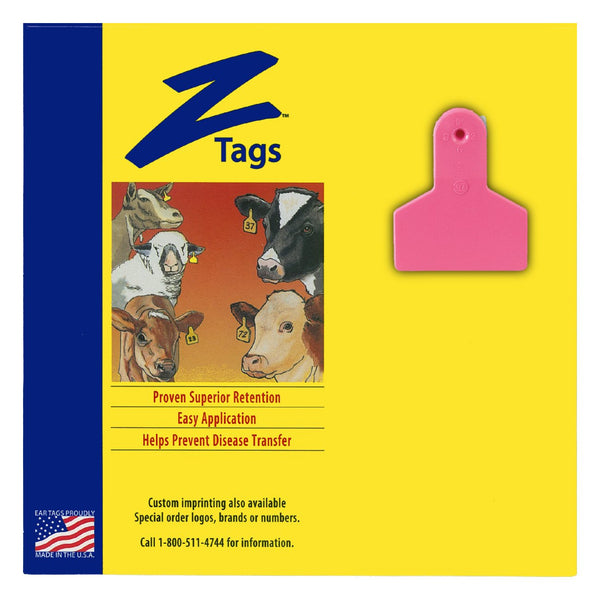 Z Tags 1 Piece Small Animal Blank (Pink) 25 Pack - 1 Piece Small Animal Blank Tag Z Tags - Canada