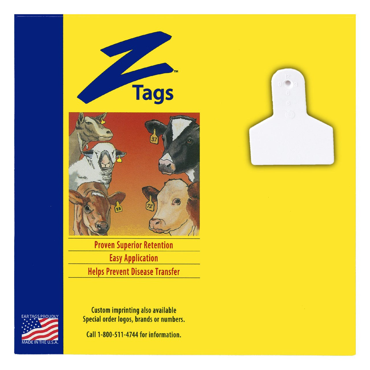 Z Tags 1 Piece Small Animal Blank (White) 25 Pack - 1 Piece Small Animal Blank Tag Z Tags - Canada