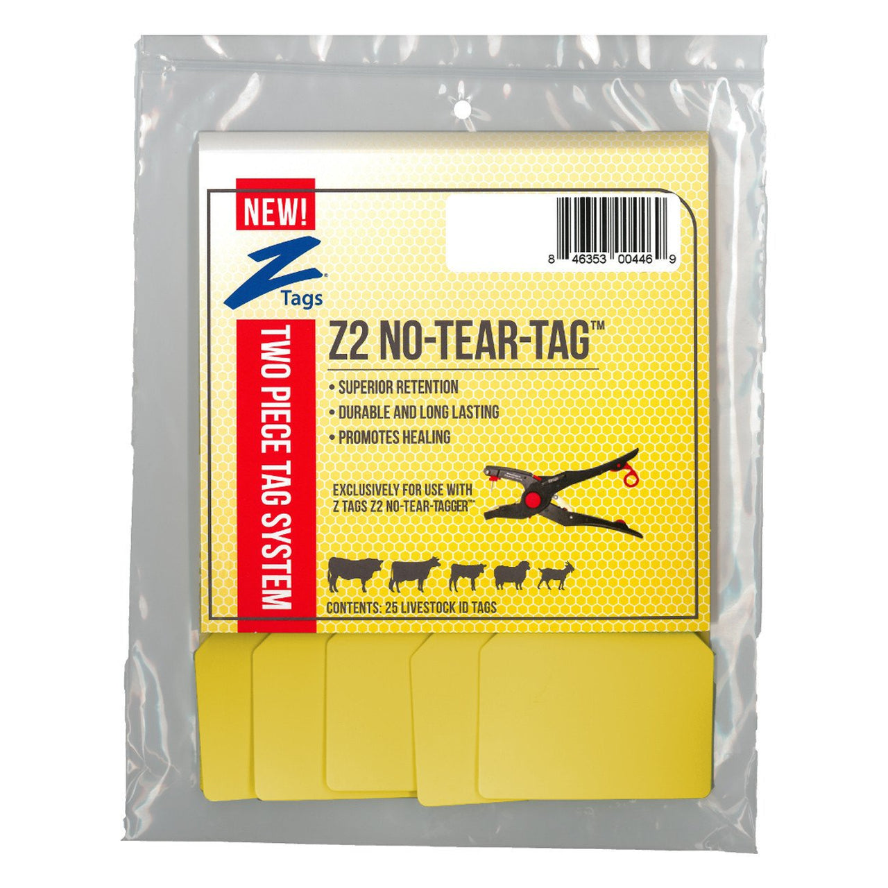 Z Tags Z2 2 Piece Maxi Blank (Yellow) - 2 Piece Maxi Blank Tag Z Tags - Canada