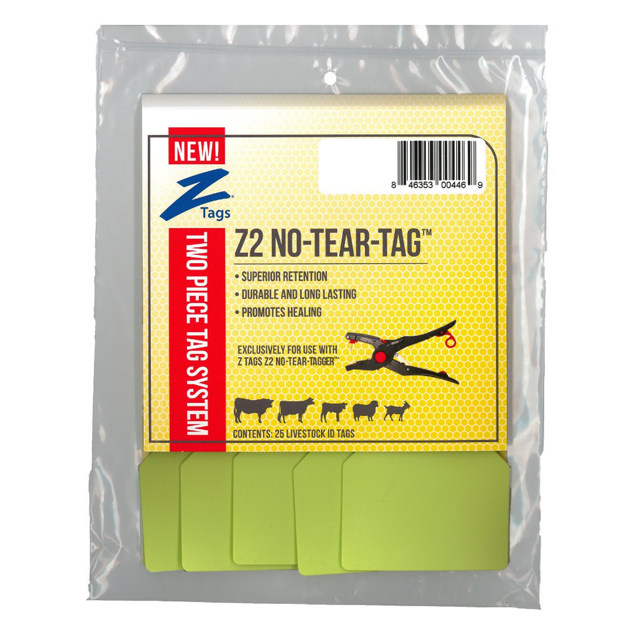 Z Tags Z2 2 Piece Maxi Blank (Light Green) - 2 Piece Maxi Blank Tag Z Tags - Canada