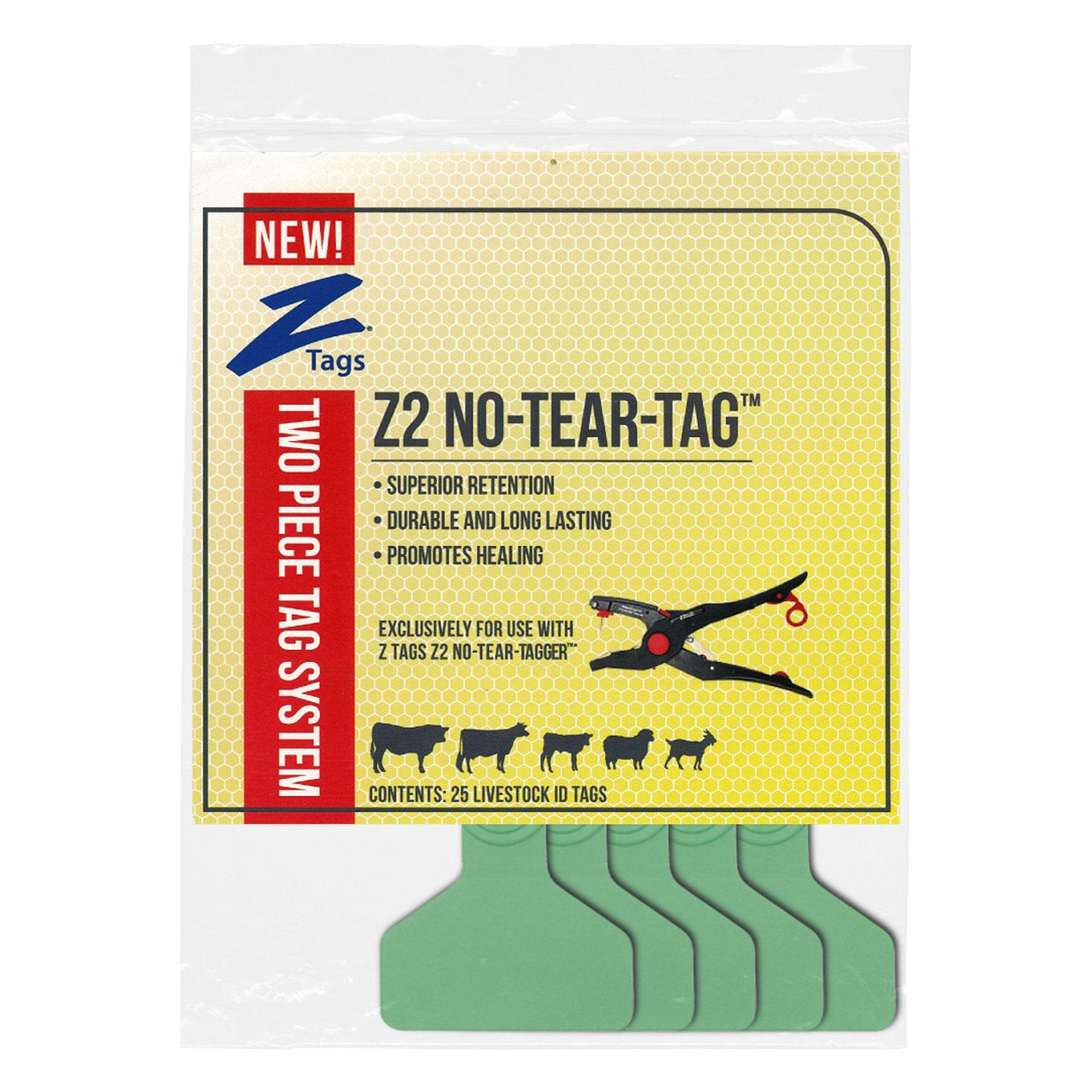 Z Tags Z2 2 Piece Medium Blank Green - 2 Piece Medium Blank Tag Z Tags - Canada