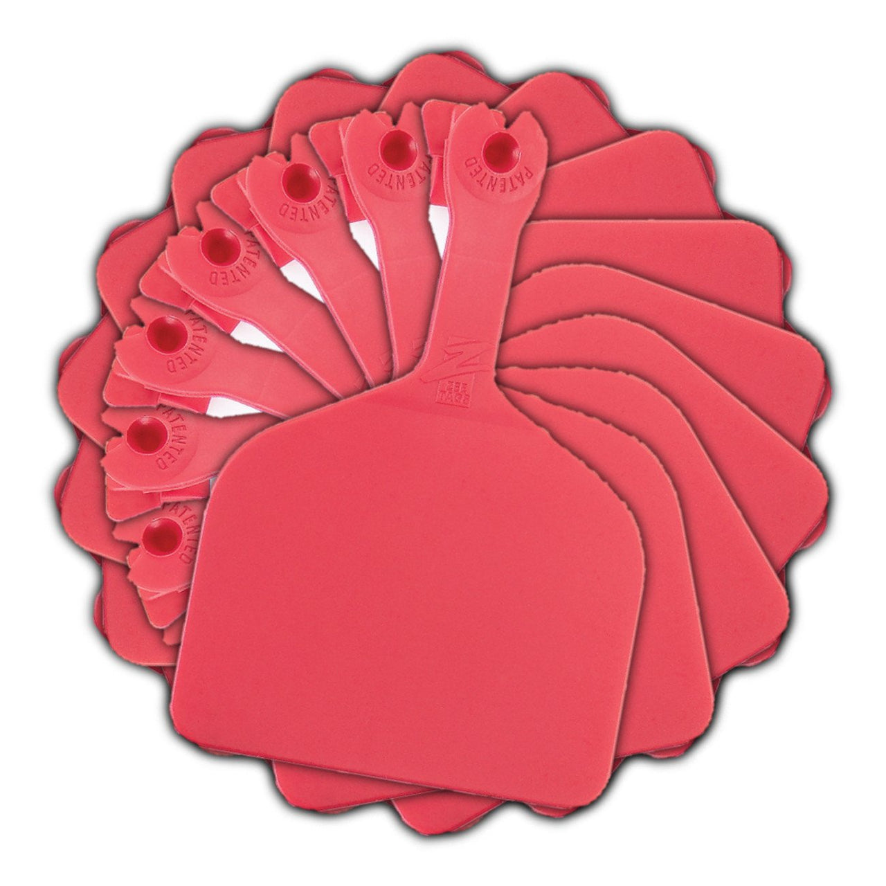 Z Tags Feedlot Blank - Red (50 Pack) - Feedlot Tags Blank Z Tags - Canada