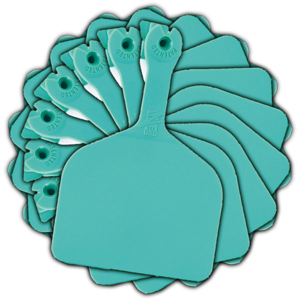 Z Tags feedlot blank - Turquoise (50 pack)